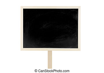 Blank blackboard label isolated on a white background, can be used for on text your.