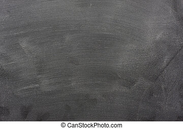blank blackboard with chalk dust and eraser marks