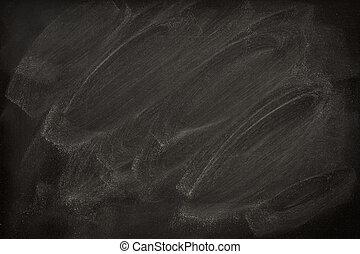 blank blackboard with chalk smudges