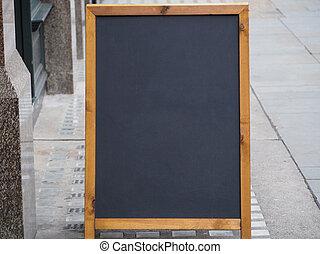 blank blackboard with copy space