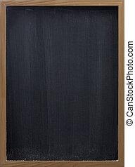 blank blackboard with vertical eraser smudges - blank ...