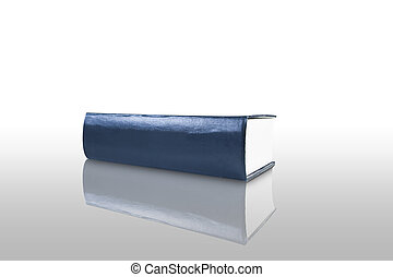 Blank Blue Book on white background,isolated