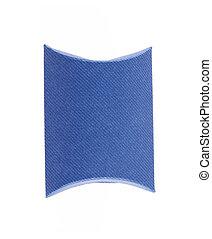 Blank blue box isolated