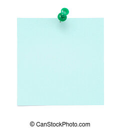 Blank blue post it note