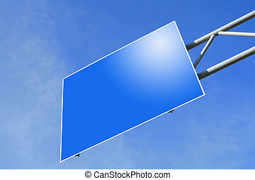 blank Blue Road traffic sign