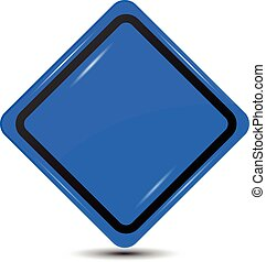 Blank Blue Sign