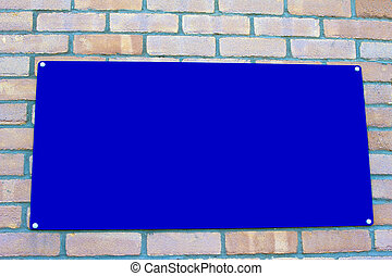 blank blue sign