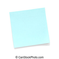 Blank Blue Sticky Note isolated on white background
