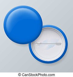 Blank Blue Vector Badges