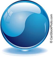Blank blue web buttons