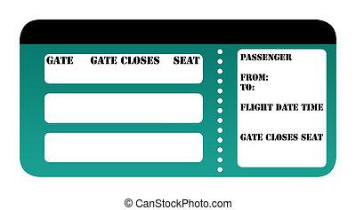 Blank boarding pass