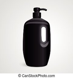 blank body care bottle isolated on white background. 3D...