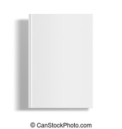 Blank book cover template. Blank book cover mockcup template ...
