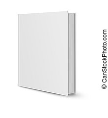 Blank book cover white - front view of Blank book cover...