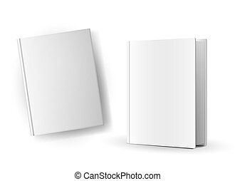 Blank book covers over white background Illustration