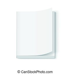 blank book design - blank thick book 3d illustration, page...