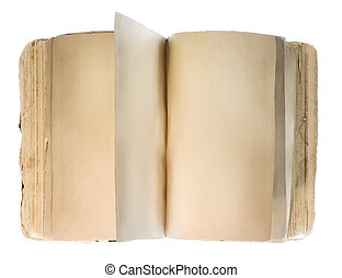 Blank book isolated on white background.