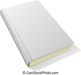 Blank book - Lying blank hardcover book isolated on white...