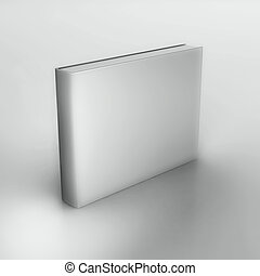 Blank book - Rendering of the book over neutral gray ...