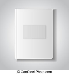 Blank book with white cover.