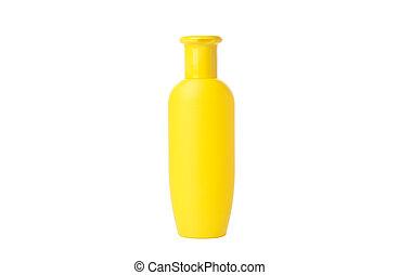 Blank bottle for shampoo isolated on white background