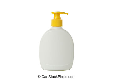 Blank bottle for soap isolated on white background