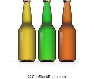 Blank Bottle on white background vector