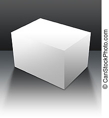 Blank Box 05 - A blank box ready for your product - clipping...