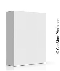 Blank Box - Blank Software Box Isolated on White Background