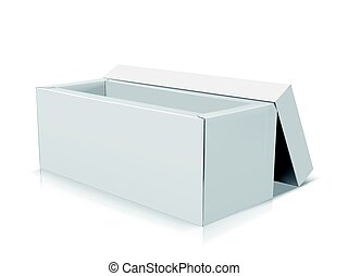 blank box design - blank long right tilt open box with...
