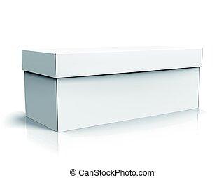 blank box design - left tilt blank long box with lid,...