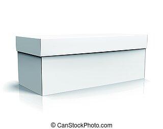 blank box design - left tilt blank long box with lid,...