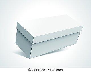 blank box design - slanting left tilt blank long box with...