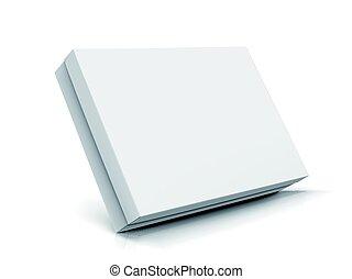 blank box design - slanting left tilt flat blank box with...