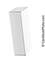 Blank box isolated
