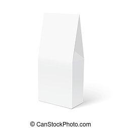 Blank box isolated on white background