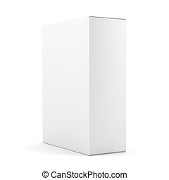 Blank box isolated over white background
