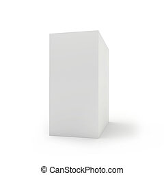 Blank box on white background. 3d render