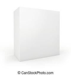Blank box on white background.