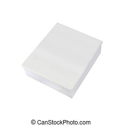 Blank box on white background