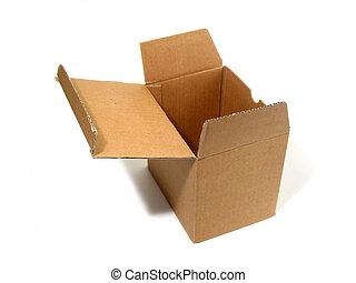 Blank box open