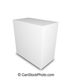 Blank Box - Blank product box. 3D render. white background.
