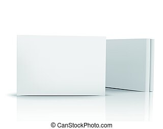 blank boxes design - two flat blank boxes with lids, one...