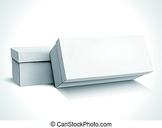 blank boxes design - two left tilt blank long boxes with...