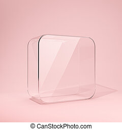 Blank branded glass box