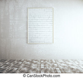 Blank brick frame