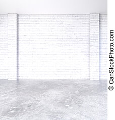 Blank brick wall in interior
