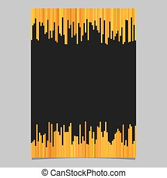 Blank brochure template from vertical lines - vector poster illustration with black background