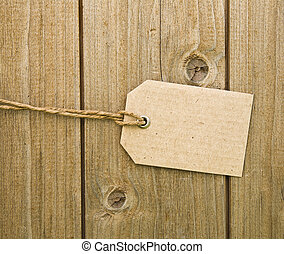 Blank Brown Cardboard Tag