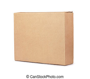 Blank brown flat cardboard box